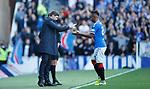28.09.2018 Rangers v Aberdeen: Alfredo Morelos and Steven Gerrard