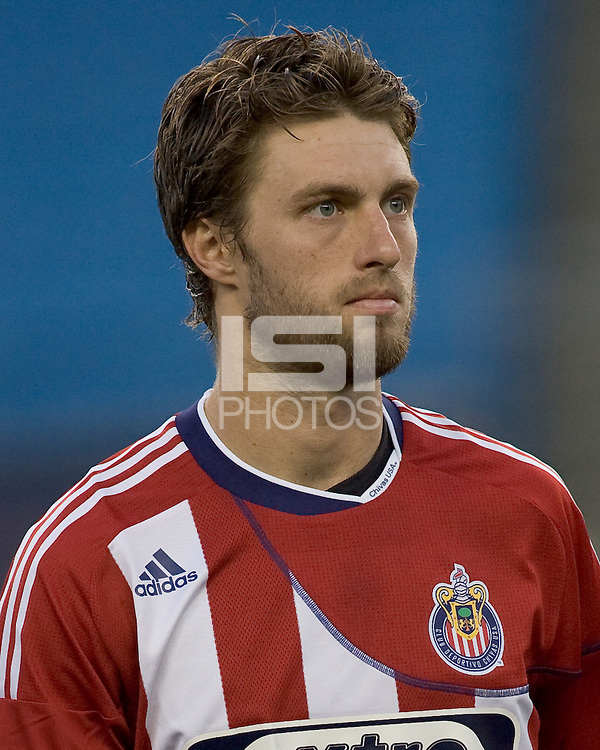 Chivas USA midfielder Blair Gavin (18). Chivas USA defeated the New England Revolution, 4-0, at Gillette Stadium on May 5, 2010.