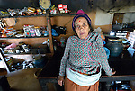 Min Kumari Shrestha stands in her shop in Makaising, a village in the Gorkha District of Nepal, where a church-sponsored humanitarian agency has provided a variety of support to local villagers--including income generating projects like Shrestha's small shop--in the wake of a 2015 earthquake.