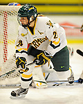 11 February 2011: University of Vermont Catamount forward Jul Sifers, a Senior from New London, CT, in action against the University of New Hampshire Wildcats at Gutterson Fieldhouse in Burlington, Vermont. The Lady Catamounts defeated the visiting Lady Wildcats 4-2 in Hockey East play. Mandatory Credit: Ed Wolfstein Photo