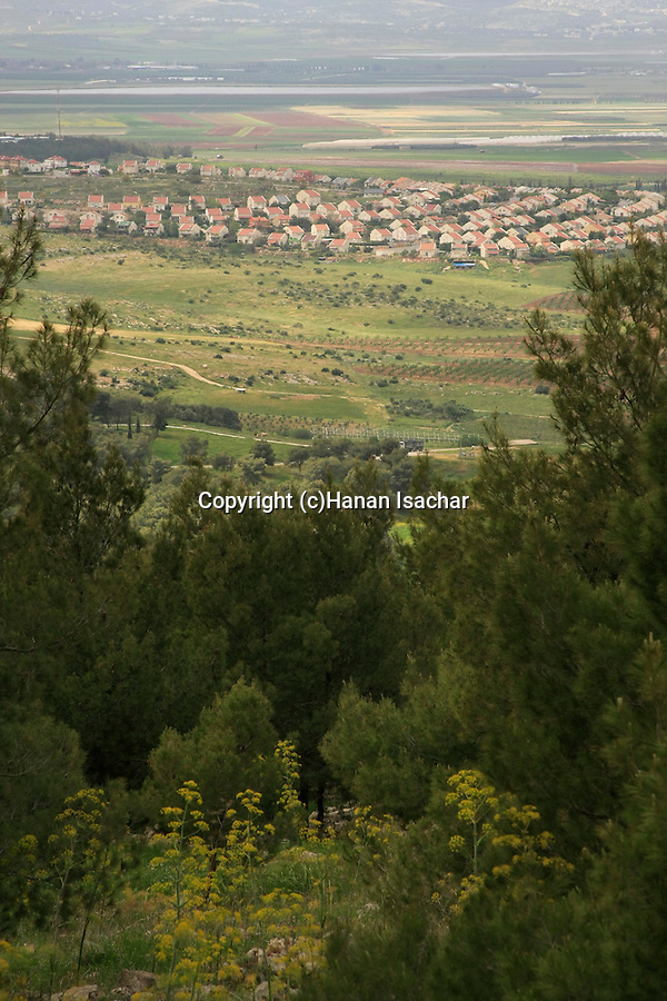 Israel, a view of Gan Ner from Mount Gilboa