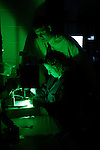 0507-05 Dr. Stark Lab..Students working in Dr. Stark's Lab..Dr. Michael Stark.Rhonda Lassiter..Photo by Jaren Wilkey/BYU..Copyright BYU Photo 2005.All Rights Reserved.photo@byu.edu   (801)422-7322