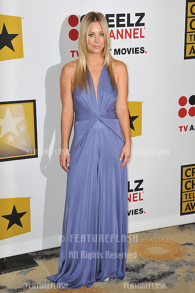 Kaley Cuoco at the inaugural Critics' Choice Television Awards, presented by the Broadcast Television Journalists Association, at the Beverly Hills Hotel..June 20, 2011  Beverly Hills, CA.Picture: Paul Smith / Featureflash