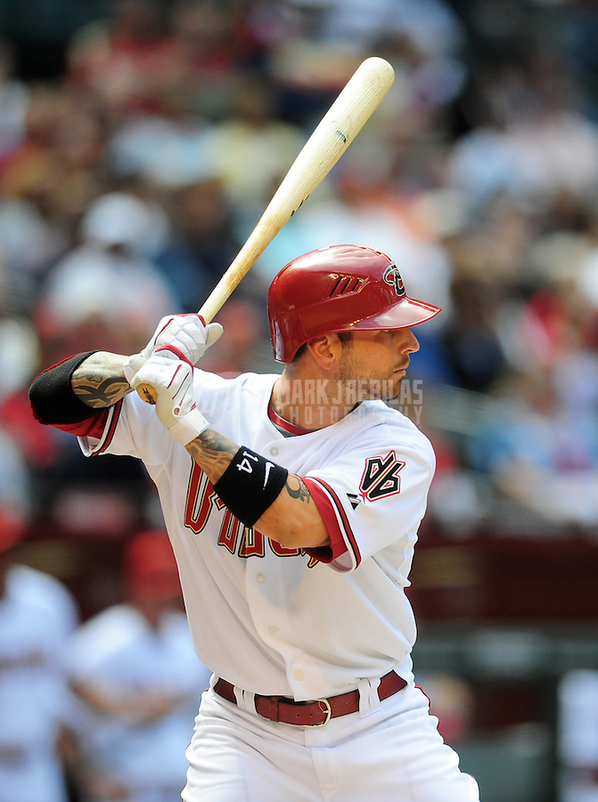 Apr. 15, 2009; Phoenix, AZ, USA; Arizona Diamondbacks player Ryan Roberts against the St. Louis Cardinals at Chase Field. Mandatory Credit: Mark J. Rebilas-