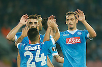 Napoli's Manolo Gabbiadini celebrates after scoring during the Europa  League Group D soccer match between SSC Napoli and Midtjylland at the San Paolo  Stadium in NaplesNovember 05, 2015