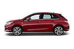 Driver side profile view of a 2013 Citroen C4 Exclusive 5 Door Hatchback 2WD