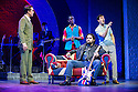 London, UK. 09.04.2013. The new musical CARNABY STREET premieres at the Hackney Empire, from Saturday 6th to Sunday 14th April, prior to a UK tour until June 29th. Directed by Bob Tomson, with design by Matthew Wright, lighting design by Nick Richings and choreography by Carole Todd. Picture shows: Hugo Harold-Harrison (Arnold Layne), Paul Hazel (Lily the Pink), Mark Pearce (Wild Thing) and Aaron Sidwell (Jack). Photograph © Jane Hobson.