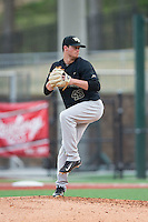 Wake Forest Demon Deacons relief pitcher Griffin Roberts (43) in action against the Charlotte 49ers at Hayes Stadium on March 16, 2016 in Charlotte, North Carolina.  The 49ers defeated the Demon Deacons 7-6.  (Brian Westerholt/Four Seam Images)