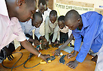 Students learn to repair electric equipment at the St. Peter Claver Ecological Training Centre in Rumbek, South Sudan. The Jesuit-sponsored school provides vocational training school in solar energy and water and sanitation.