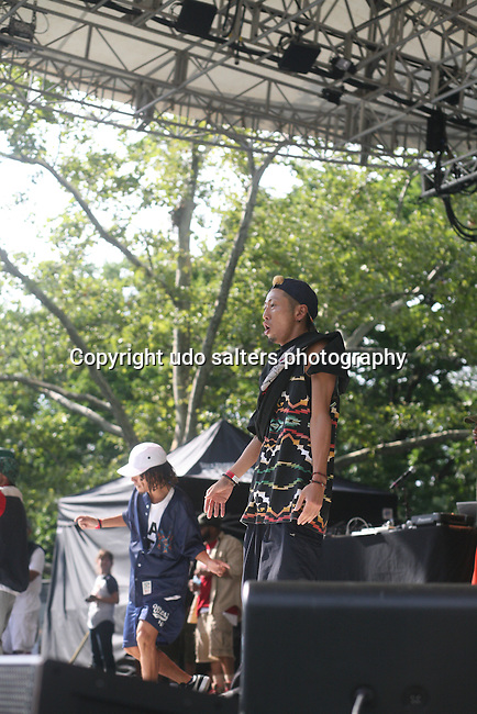 Dancers from Japan Perform with Special Ed at Rock Steady Crew 36th Year Anniversary Celebration at Central Park's SummerStage, NY