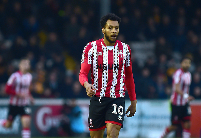 Lincoln City's Matt Green<br /> <br /> Photographer Andrew Vaughan/CameraSport<br /> <br /> The EFL Sky Bet League Two - Lincoln City v Mansfield Town - Saturday 24th November 2018 - Sincil Bank - Lincoln<br /> <br /> World Copyright © 2018 CameraSport. All rights reserved. 43 Linden Ave. Countesthorpe. Leicester. England. LE8 5PG - Tel: +44 (0) 116 277 4147 - admin@camerasport.com - www.camerasport.com