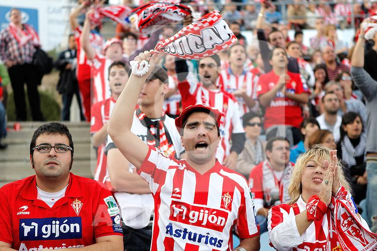 Sporting de Gijon's fans during La Liga match. October 24, 2010. (ALTERPHOTOS/Alvaro Hernandez)