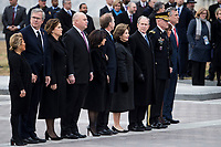 Members of the Bush family are seen outside on the East Front of the Capitol before the remains of President George H.W. Bush are transported from the U.S. Capitol to the National Cathedral Wednesday December 5, 2018.<br /> CAP/MPI/RS<br /> &copy;RS/MPI/Capital Pictures