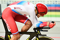 Picture by SWpix.com - 02/03/2018 - Cycling - 2018 UCI Track Cycling World Championships, Day 3 - Omnisport, Apeldoorn, Netherlands - Men's Individual Pursuit - Alexander Evtushenko of Russia