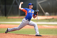 New York Mets pitcher Chris Flexen (77) during a minor league spring training game against the Miami Marlins on March 28, 2014 at Roger Dean Stadium in Jupiter, Florida.  (Mike Janes/Four Seam Images)