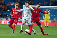 Real Madrid Mateo Kovacic and CD Numancia Aitor Fernandez during King's Cup match between Real Madrid and CD Numancia at Santiago Bernabeu Stadium in Madrid, Spain. January 10, 2018. (ALTERPHOTOS/Borja B.Hojas) /NortePhoto.com NORTEPHOTOMEXICO