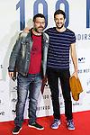 "Queque and David Broncano  during the premier of the film ""100 METROS"" at Capitol Cinema in Madrid, Spain. November 02, 2016. (ALTERPHOTOS/Rodrigo Jimenez)"