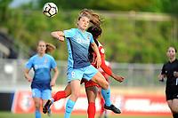 Boyds, MD - Saturday May 6, 2017: Erica Skroski, Francisca Ordega during a regular season National Women's Soccer League (NWSL) match between the Washington Spirit and Sky Blue FC at Maureen Hendricks Field, Maryland SoccerPlex.