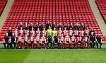 U18 Squad Photo during the  2019/20 Photocall at Bramall Lane, Sheffield. Picture date: 17th September 2019. Picture credit should read: Simon Bellis/Sportimage<br /> <br /> Back row L to R<br /> Mark Smith, Morgan Wright, Marco De Bianchi, Rhys Carr, Alex Delves, Matt Duke,  Carl Wells, Mark Pease, Iggy Szuba,Luke Callis, Cuan Neyland,  Steve Holmes<br /> Middle row L to R<br /> Andrew Hughes, Harry Boyes, Jack Stainrod, Nicksoen Gomis, Jake Kelly, Sam Ackroyd, Harrison Neal, Josh Chapman, Sam Kelly, Ryan Viggars, Harvey Cullinan, William Osula, Femi Sekiri, Tristan Skerritt, Kyron Gordon, Chris Howarth<br /> Front row L to R<br /> Dan Carter, Nick Sheppard, Daniel Jebbison, Tommy Williams, Angelo Capello, Frankie Maguire, Zak Brunt, Jack Lester, Del Geary, Leo Gaxha, Harrison Foulstone, Hassan Ayari, Andre Brooks, Javelle Clarke, Mark Wilgose, Korn Piangcharoen