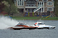 "Jim Mauldin, E-31 and Kip Brown, E-1 ""MY-Way"" race off the first turn. (5 Litre class hydroplane(s)"