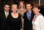 Massimo Mirabile, Mary MacMonagle, Emer Corridon, Dieter and Patricia Gogsch, Killarney, at the Skål International Kerry Ball in The Malton Hotel, Killarney on Saturday night. Picture: Eamonn Keogh (MacMonagle, Killarney)