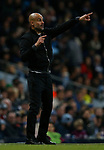 Josep Guardiola manager of Manchester City sends out instructions during the premier league match at the Etihad Stadium, Manchester. Picture date 3rd December 2017. Picture credit should read: Andrew Yates/Sportimage