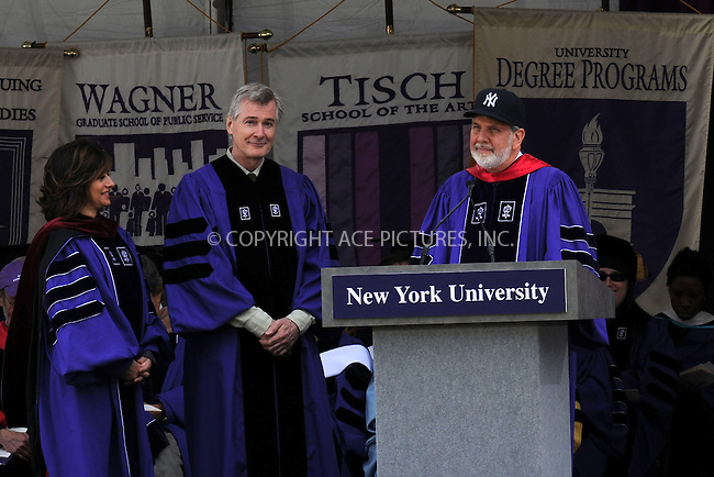 WWW.ACEPIXS.COM . . . . . ....May 13 2009, New York City....Actor John Patrick Shanley received a Doctor of Laws degree at NYU's 177th Commencement ceremony at Yankee Stadium on May 13, 2009 in the Bronx, New York City.....Please byline: KRISTIN CALLAHAN - ACEPIXS.COM.. . . . . . ..Ace Pictures, Inc:  ..tel: (212) 243 8787 or (646) 769 0430..e-mail: info@acepixs.com..web: http://www.acepixs.com