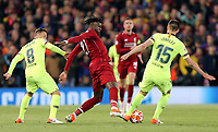 Liverpool's Divock Origi vies for possession with Barcelona's Clement Lenglet<br /> <br /> Photographer Rich Linley/CameraSport<br /> <br /> UEFA Champions League Semi-Final 2nd Leg - Liverpool v Barcelona - Tuesday May 7th 2019 - Anfield - Liverpool<br />  <br /> World Copyright © 2018 CameraSport. All rights reserved. 43 Linden Ave. Countesthorpe. Leicester. England. LE8 5PG - Tel: +44 (0) 116 277 4147 - admin@camerasport.com - www.camerasport.com