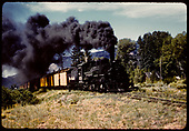 D&amp;RGW #478 K-28 with excursion train north of Durango.<br /> D&amp;RGW  n. of Durango, CO