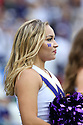 SEATTLE, WA - SEPTEMBER 14: Washington Cheer member Alia Levi entertained fans during the college football game between the Washington Huskies and the Hawaii Rainbow Warriors on September 14, 2019 at Husky Stadium in Seattle, WA.