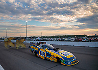 Sep 28, 2019; Madison, IL, USA; NHRA funny car driver Ron Capps during qualifying for the Midwest Nationals at World Wide Technology Raceway. Mandatory Credit: Mark J. Rebilas-USA TODAY Sports