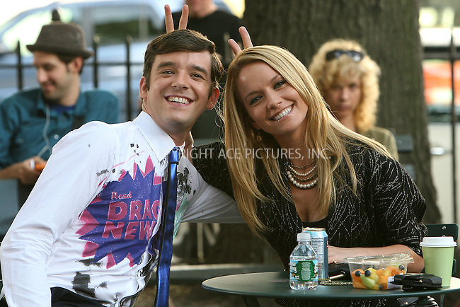 WWW.ACEPIXS.COM . . . . .  ....September 3 2009, New York City....Actors Michael Urie and Becki Nexton on the midtown Manhattan set of the TV show 'Ugly Betty' on September 3 2009 in New York City....Please byline: NANCY RIVERA- ACE PICTURES.... *** ***..Ace Pictures, Inc:  ..tel: (212) 243 8787 or (646) 769 0430..e-mail: info@acepixs.com..web: http://www.acepixs.com