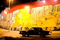 Caracas_VEN, Venezuela...Grafite em muro na regiao central de Caracas, Capital da Venezuela...Graffiti on wall in the central region of Caracas, capital of Venezuela...Foto: JOAO MARCOS ROSA / NITRO