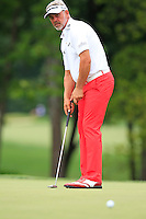 Darren CLARKE (NIR) putts on the 8th green during Thursday's Round 1 of the 2014 PGA Championship held at the Valhalla Club, Louisville, Kentucky.: Picture Eoin Clarke, www.golffile.ie: 7th August 2014