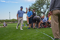 Kevin Streelman (USA) approaches his ball he hit into the crowd near the green on 18 during day 4 of the Valero Texas Open, at the TPC San Antonio Oaks Course, San Antonio, Texas, USA. 12/31/2013.<br /> Picture: Golffile | Ken Murray<br /> <br /> <br /> All photo usage must carry mandatory copyright credit (© Golffile | Ken Murray)