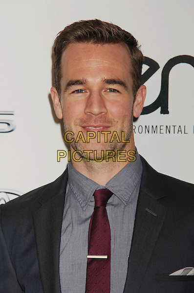 James Van Der Beek<br /> at the 2013 Environmental Media Awards held at Warner Bros. Studios, Burbank, California, USA.<br /> October 19th, 2013<br /> EMA EMAS headshot portrait grey gray suit shirt red tie stubble facial hair <br /> CAP/ROT/TM<br /> &copy;Tony Michaels/Roth Stock/Capital Pictures