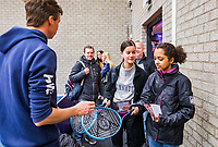 Den Bosch, The Netherlands, Februari 9, 2019,  Maaspoort , FedCup  Netherlands - Canada, playground<br /> Photo: Tennisimages/Henk Koster