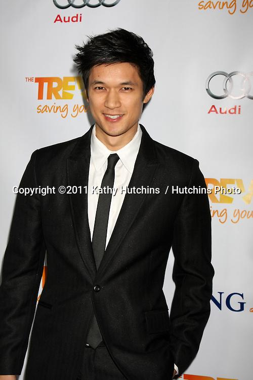 "LOS ANGELES - DEC 4:  Harry Shum Jr arrives at ""The Trevor Project's 2011 Trevor Live!"" at Hollywood Palladium on December 4, 2011 in Los Angeles, CA"