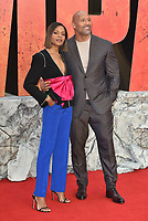Naomie Harris, Dwayne Johnson<br /> 'Rampage'' european film premiere in Leicester Square, London, England on April 11, 2018.<br /> CAP/PL<br /> &copy;Phil Loftus/Capital Pictures