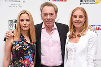 Lord Andrew Lloyd Webber and daughters, Imogen and Isabella<br /> at the South Bank Sky Arts Awards 2017, Savoy Hotel, London. <br /> <br /> <br /> &copy;Ash Knotek  D3288  09/07/2017