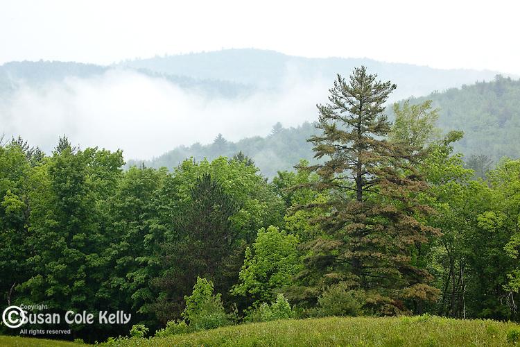 The gentle New Hampshire hills around Sugar Hill, NH, USA