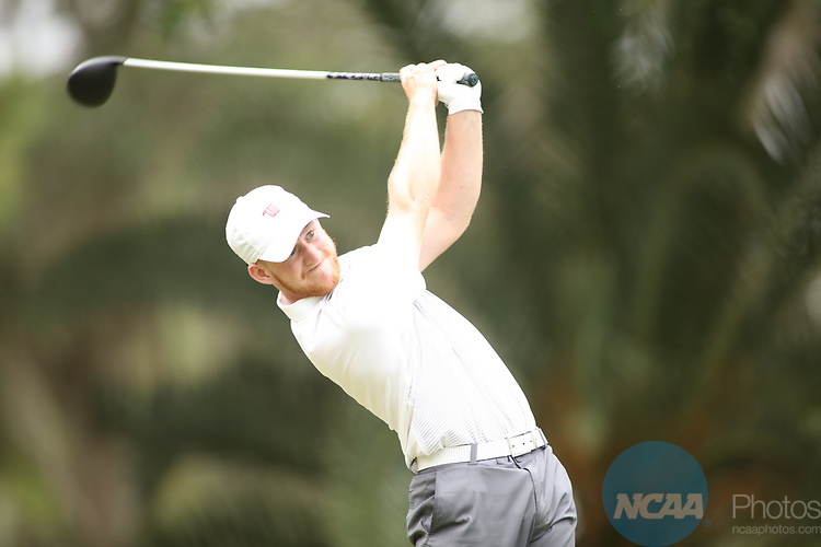HOWEY IN THE HILLS, FL - MAY 19: Sam Stilwell of Wittenberg tees off during the Division III Men's Golf Championship held at the Mission Inn Resort and Club on May 19, 2017 in Howey In The Hills, Florida. (Photo by Cy Cyr/NCAA Photos via Getty Images)
