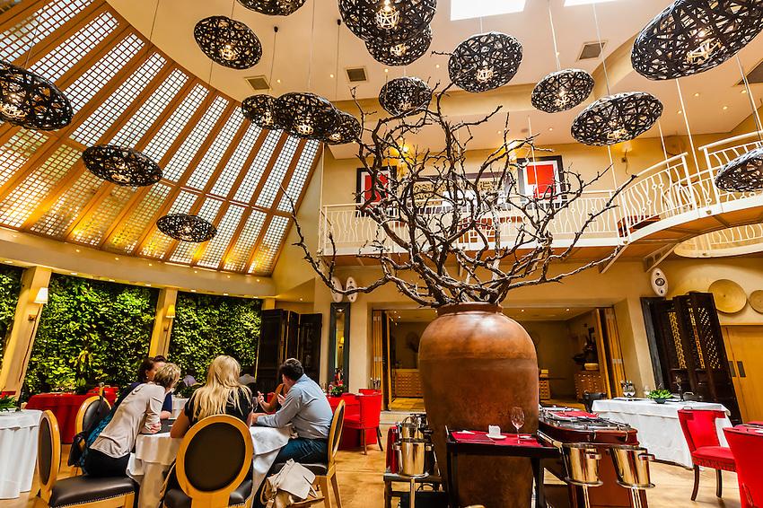 Restaurant, Saxon Hotel, Johannesburg, South Africa.