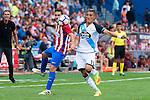 Atletico de Madrid's player Koke Resurrección and Deportivo de la Coruña's player Faycal Fajr during a match of La Liga Santander at Vicente Calderon Stadium in Madrid. September 25, Spain. 2016. (ALTERPHOTOS/BorjaB.Hojas)