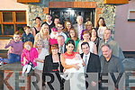 Kevin McCormack&Denise McEvoy,Lee Drive,Tralee(front centre)who Christened their new baby Callum at St Johns church,Tralee last Saturday afternoon and after to a family celebration in Gally's bar/restaurant Castlemaine Rd,Tralee.