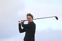 Bailey Gill from England on the 5th tee during Round 3 Singles of the Men's Home Internationals 2018 at Conwy Golf Club, Conwy, Wales on Friday 14th September 2018.<br /> Picture: Thos Caffrey / Golffile<br /> <br /> All photo usage must carry mandatory copyright credit (&copy; Golffile | Thos Caffrey)