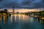 Guadalquivir river from San Telmo bridge, Seville, Spain