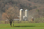 Lycoming County barn in early Spring. Near Pennsdale.