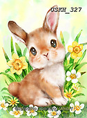 Kayomi, EASTER, OSTERN, PASCUA, paintings+++++,USKH327,#e#, EVERYDAY ,rabbits