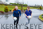 Kate and Jack Collins from Reamore Ballymac outside their home as they are encouraged by the Ballymacelligott GAA Club who are encouraging young players to still practice and perfect their skills at home.